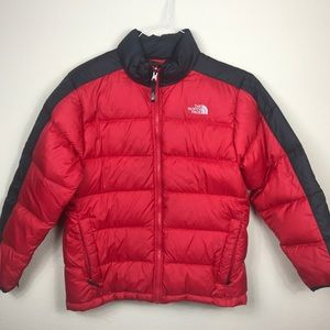 THE NORTH FACE PUFFY BOYS 14/16 JACKET COAT RED